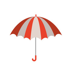 color silhouette with opened umbrella vector image