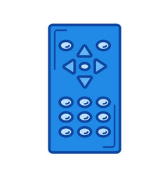 remote control line icon vector image