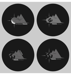 Set travel logo vector image vector image