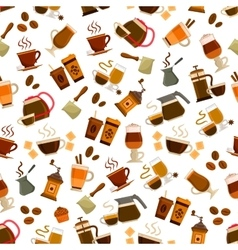 Coffee cafe seamless pattern vector image vector image
