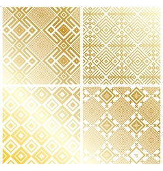 ROYAL GOLD GEOMETRIC PATTERN BACKGROUND vector image vector image