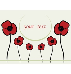 spring or summer backgrounds with poppy vector image vector image