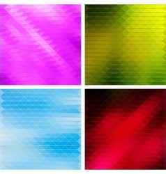 Triangular Mosaic Backgrounds Set vector image vector image