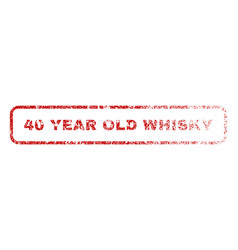 40 year old whisky rubber stamp vector image