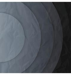 Abstract dark grey paper circles background vector image