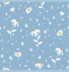 abstract floral seamless patterns with flowers vector image