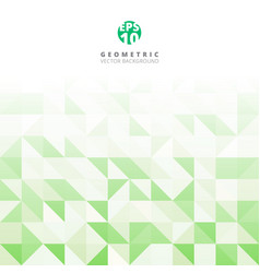 abstract gray triangle and square in green and vector image