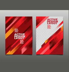 Active design layout sport background dynamic vector