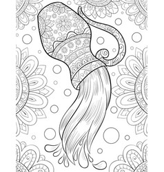 Adult coloring bookpage a cute jug with water on vector