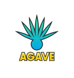 Agave plant element for logo design on white vector