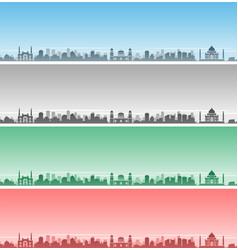 Agra skyline event banner vector