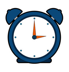 alarm clock isolated icon vector image