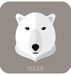 Animal Portrait With Flat Design Polar Bear vector