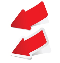 arrow sticker in red vector image