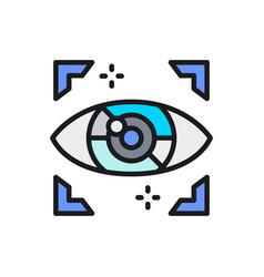 artificial intelligence eye computer surveillance vector image