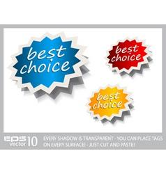 Award stickers vector