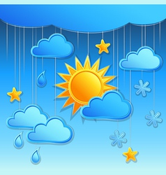 background with day weather icon vector image