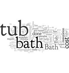 Bathtub repairs faq vector