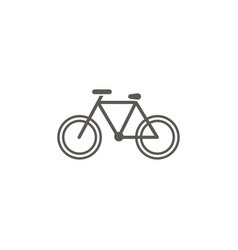 bike icon simple element from map and navigation vector image
