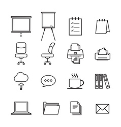 Business line icon vector