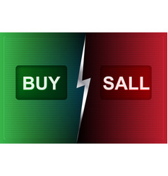 Buy and sell buttons on digital processing vector