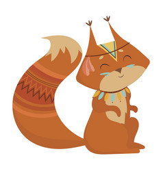 cartoon squirrel indian a vector image