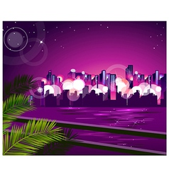 City skyline night vector image