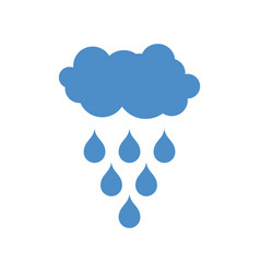 cloud and rain icon weather pictogram isolated vector image