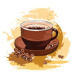coffee and beans vector image