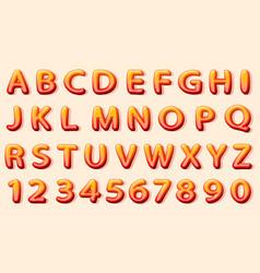 comics orange font on the white background vector image
