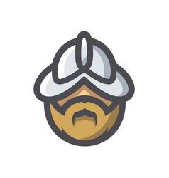 Conquistador medieval conqueror icon vector