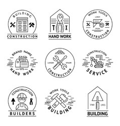 Construction Emblem Set vector image