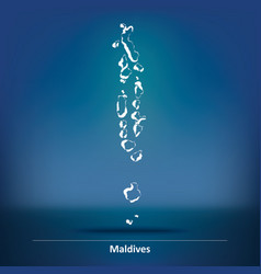 Doodle Map of Maldives vector image
