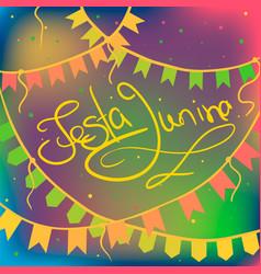 festa junina greeting card vector image
