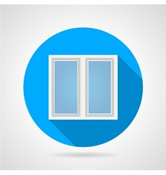 Flat icon for white frame window vector image