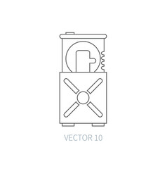 flat line computer part icon - optical vector image