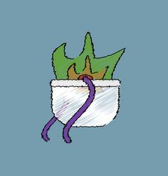 Flat shading style icon military cauldron pot vector