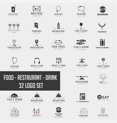 food chef logo collection design icon element vector image