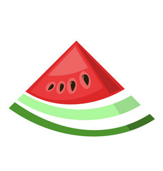 fresh ripe watermelon icon vector image