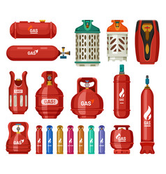 Gas tank cylinders propane lpg bottles containers vector