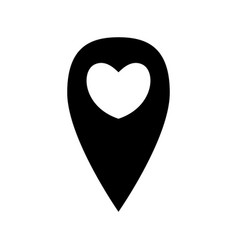 Geo location sign with heart vector
