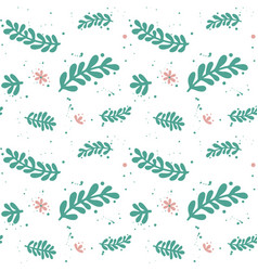 Green leaf branches pattern vector