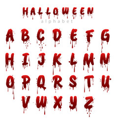 Halloween bloody alphabet i vector