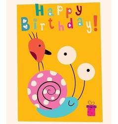 Happy Birthday card 9 vector image