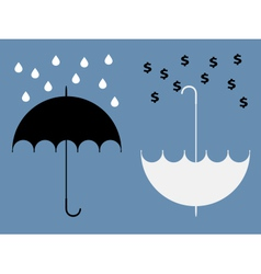 Hidden benefits umbrella vector