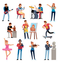 Hobby persons people of creative professions vector