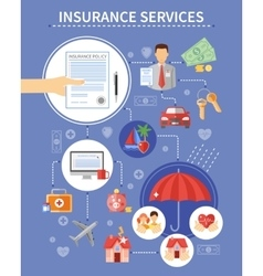 Insurance Services Background vector image