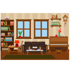 Interior a room for business and leisure vector