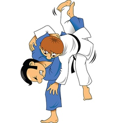 Karate fight vector