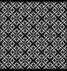 lace floral seamless pattern black and vector image
